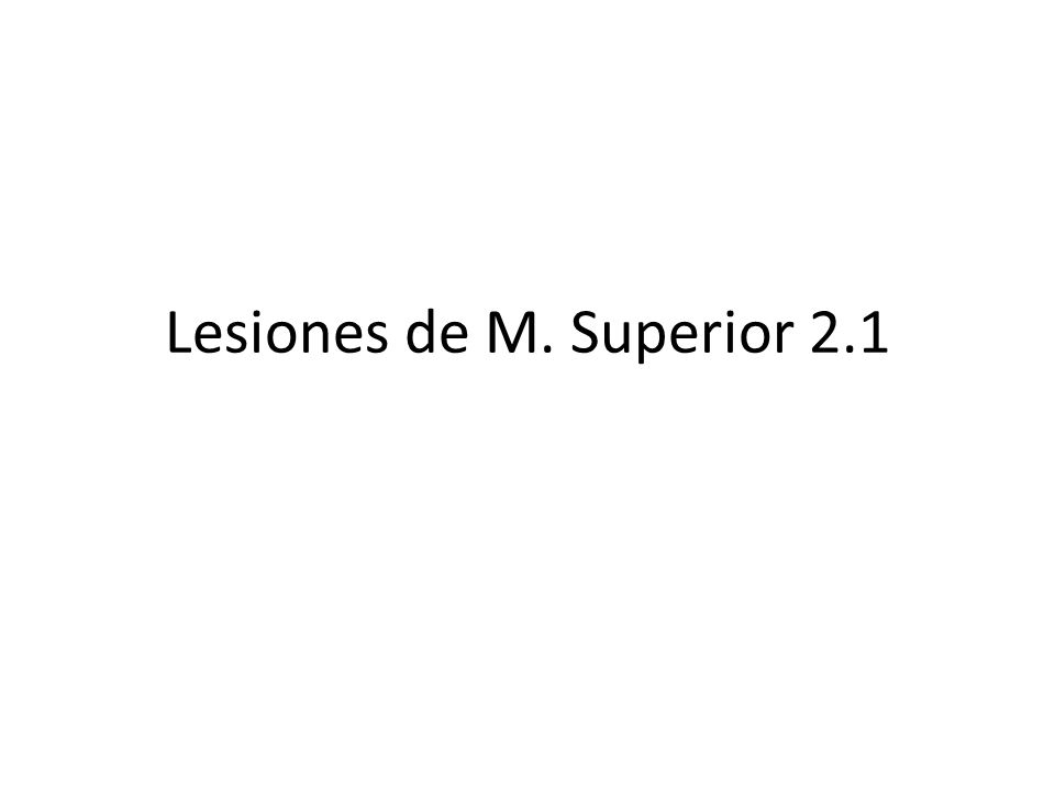 Lesiones de M. Superior 2.1