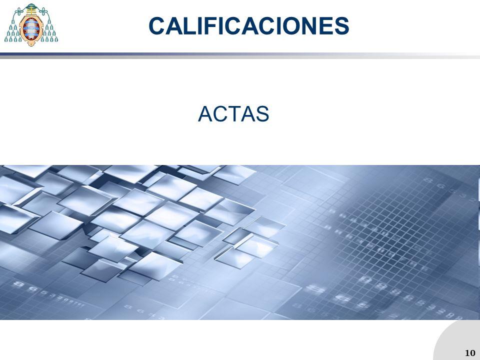 CALIFICACIONES ACTAS 10 10