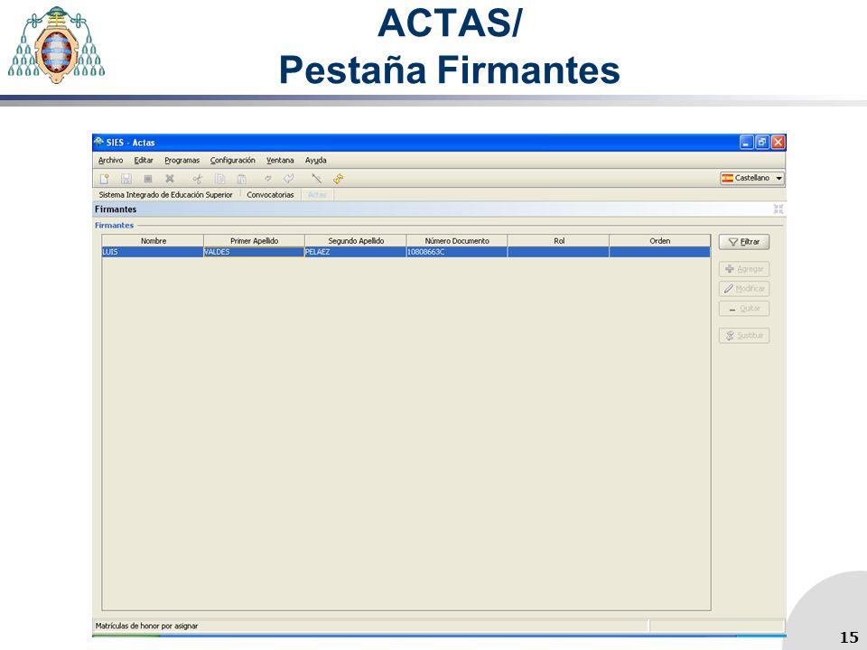 ACTAS/ Pestaña Firmantes