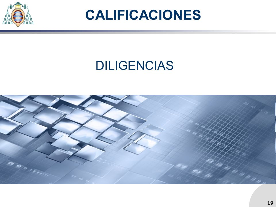 CALIFICACIONES DILIGENCIAS 19 19