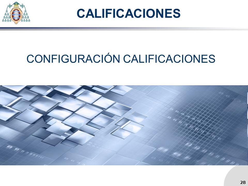 CONFIGURACIÓN CALIFICACIONES