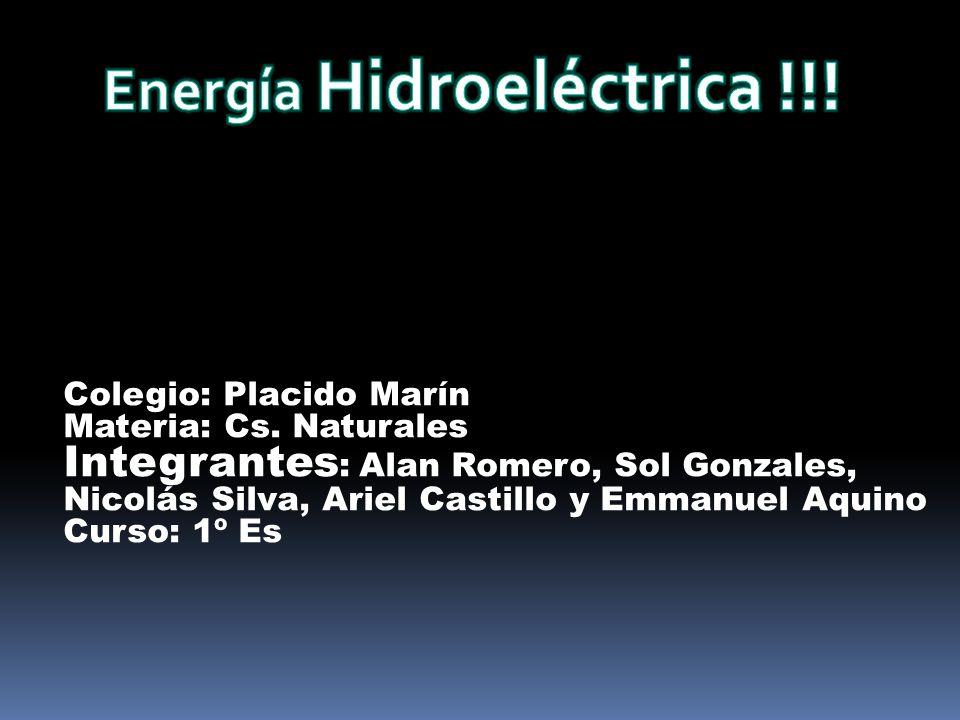 Energía Hidroeléctrica !!!