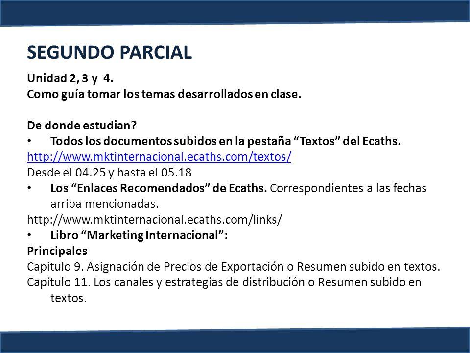 SEGUNDO PARCIAL Unidad 2, 3 y 4.