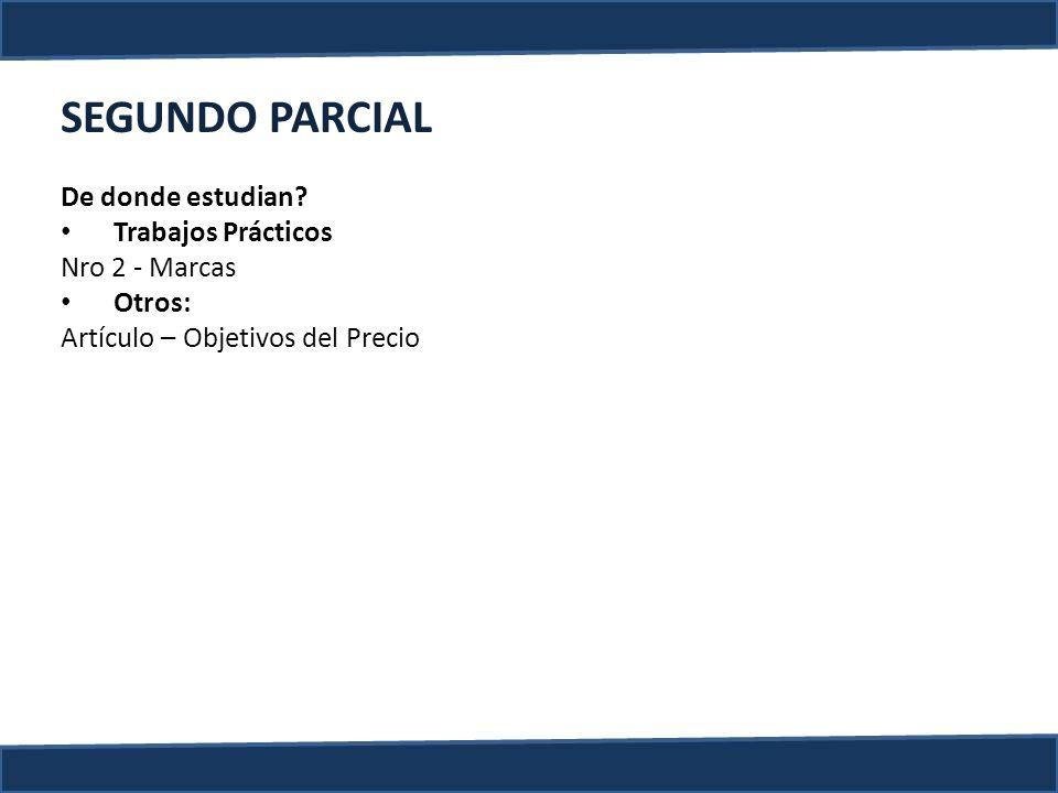 SEGUNDO PARCIAL De donde estudian Trabajos Prácticos Nro 2 - Marcas