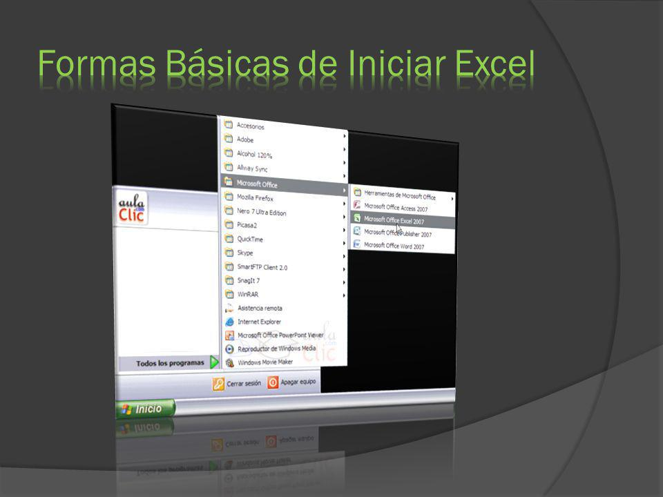 Formas Básicas de Iniciar Excel