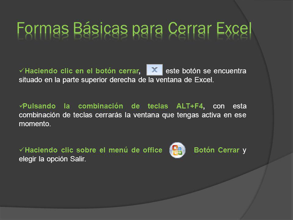 Formas Básicas para Cerrar Excel