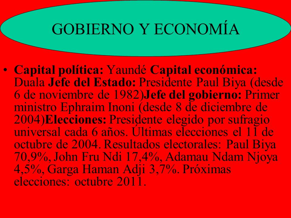 GOBIERNO Y ECONOMÍA