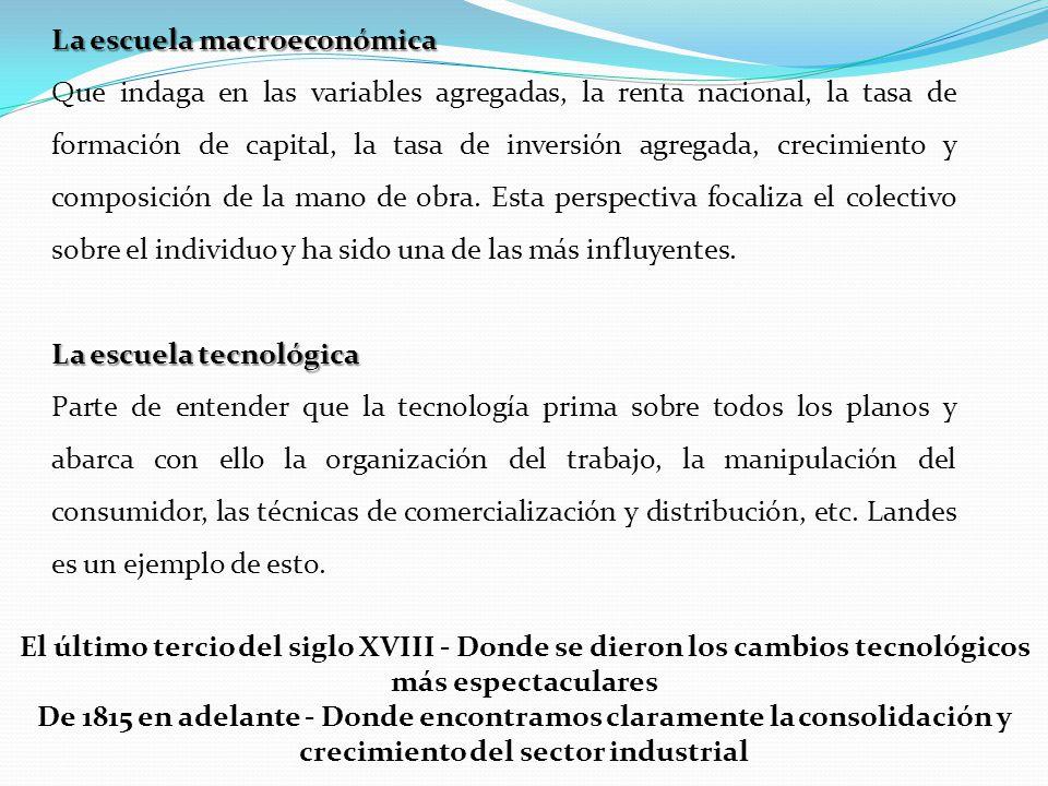 La escuela macroeconómica