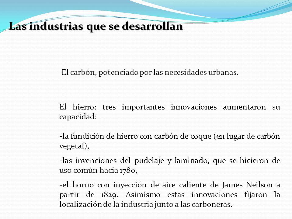 Las industrias que se desarrollan