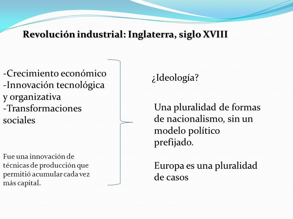 Revolución industrial: Inglaterra, siglo XVIII