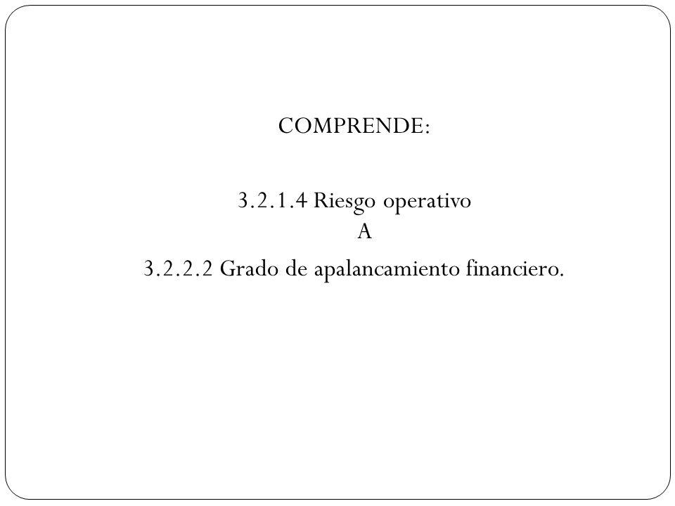 3.2.2.2 Grado de apalancamiento financiero.