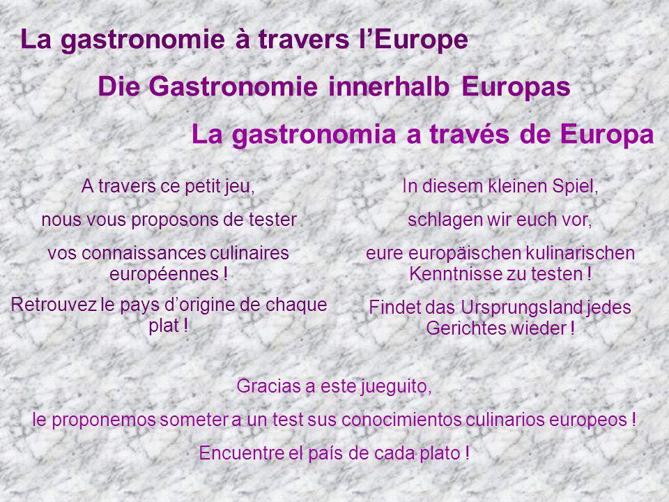 Die Gastronomie innerhalb Europas