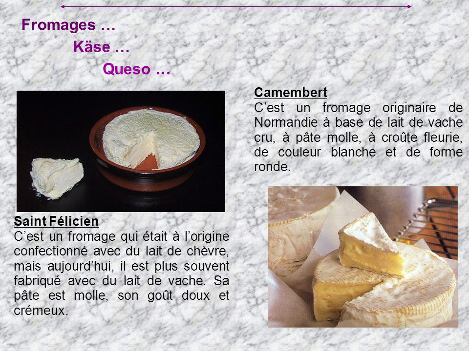 Fromages … Käse … Queso … Camembert