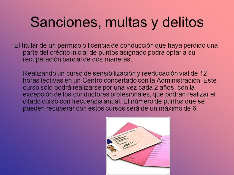 Sanciones, multas y delitos