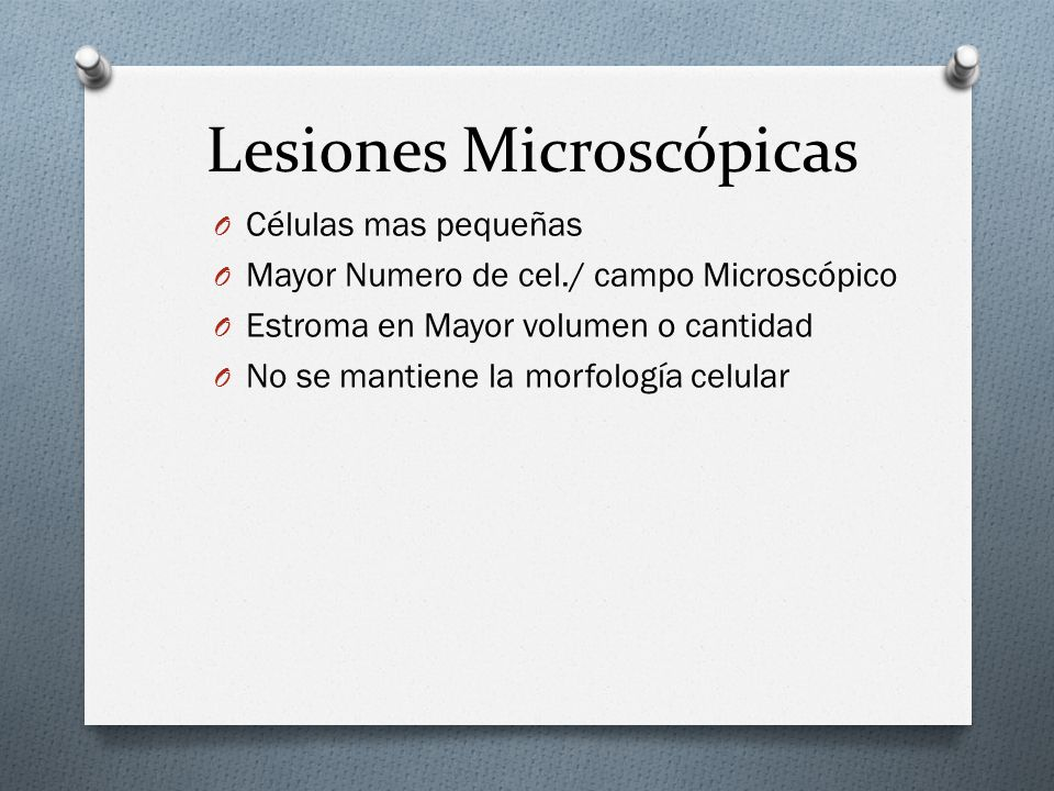 Lesiones Microscópicas