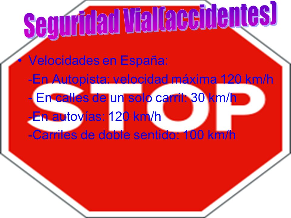Seguridad Vial(accidentes)