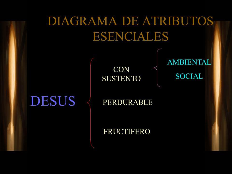 DIAGRAMA DE ATRIBUTOS ESENCIALES