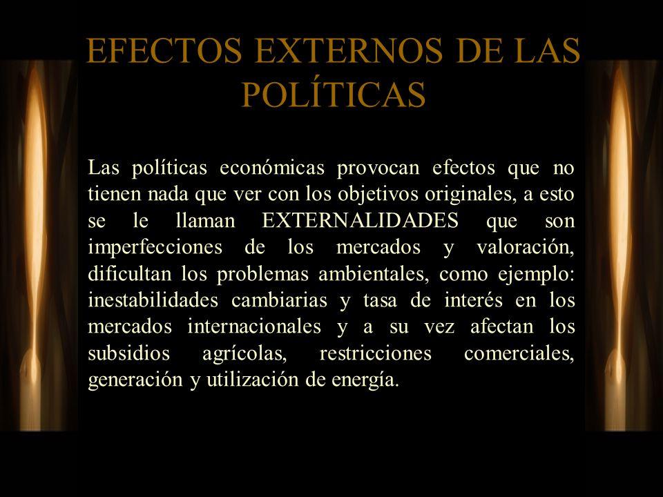 EFECTOS EXTERNOS DE LAS POLÍTICAS