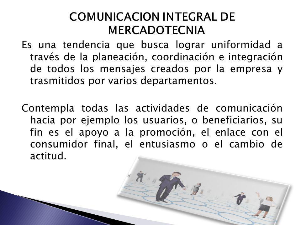 COMUNICACION INTEGRAL DE MERCADOTECNIA