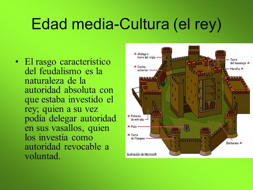 Edad media-Cultura (el rey)