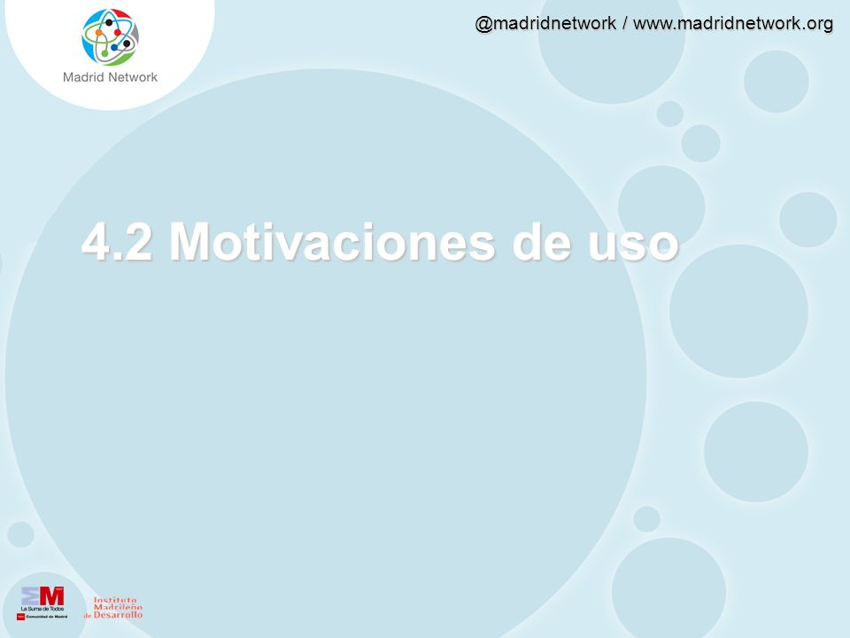 4.2 Motivaciones de uso