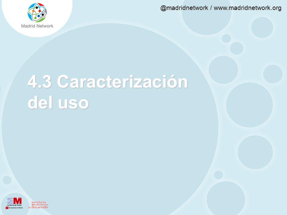 4.3 Caracterización del uso