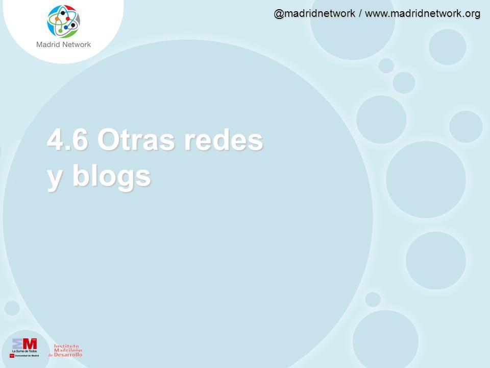 4.6 Otras redes y blogs