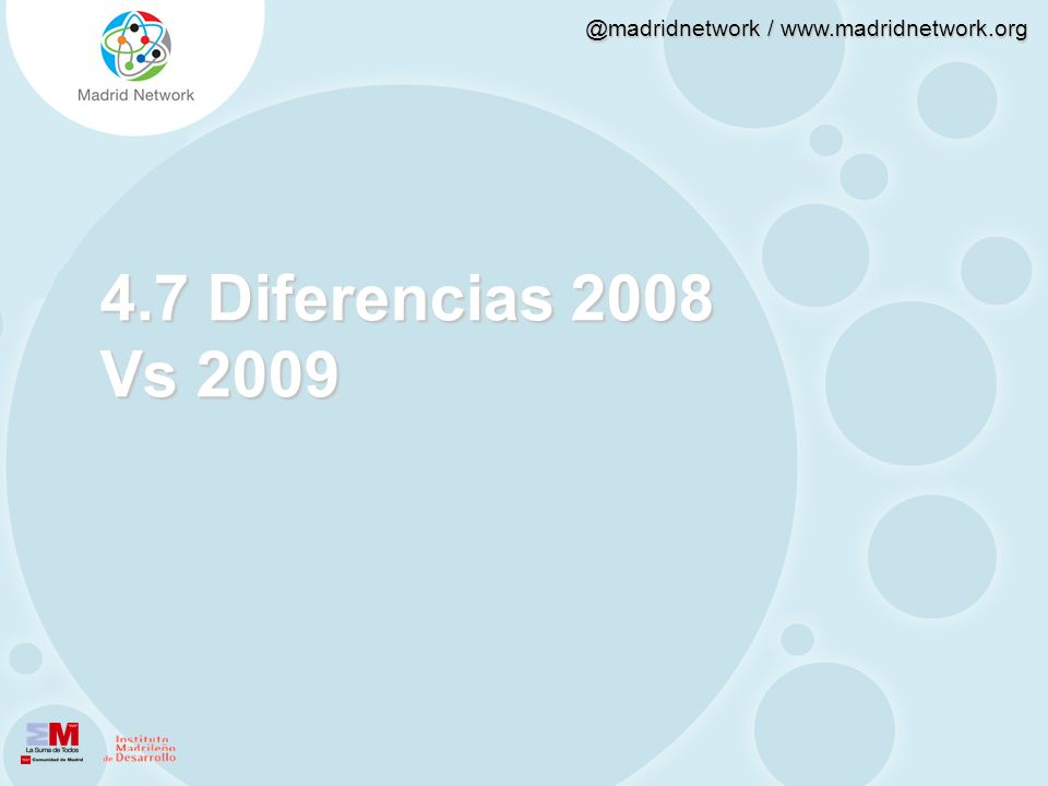 4.7 Diferencias 2008 Vs 2009