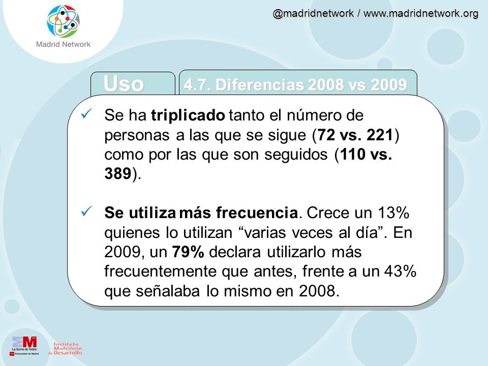 Uso 4.7. Diferencias 2008 vs 2009.
