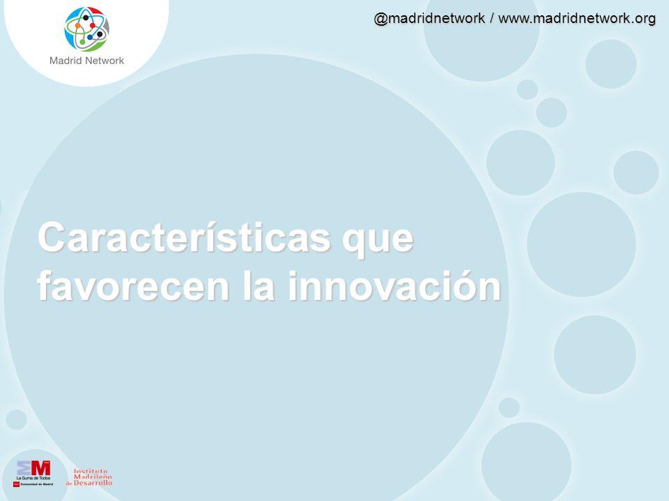 Características que favorecen la innovación