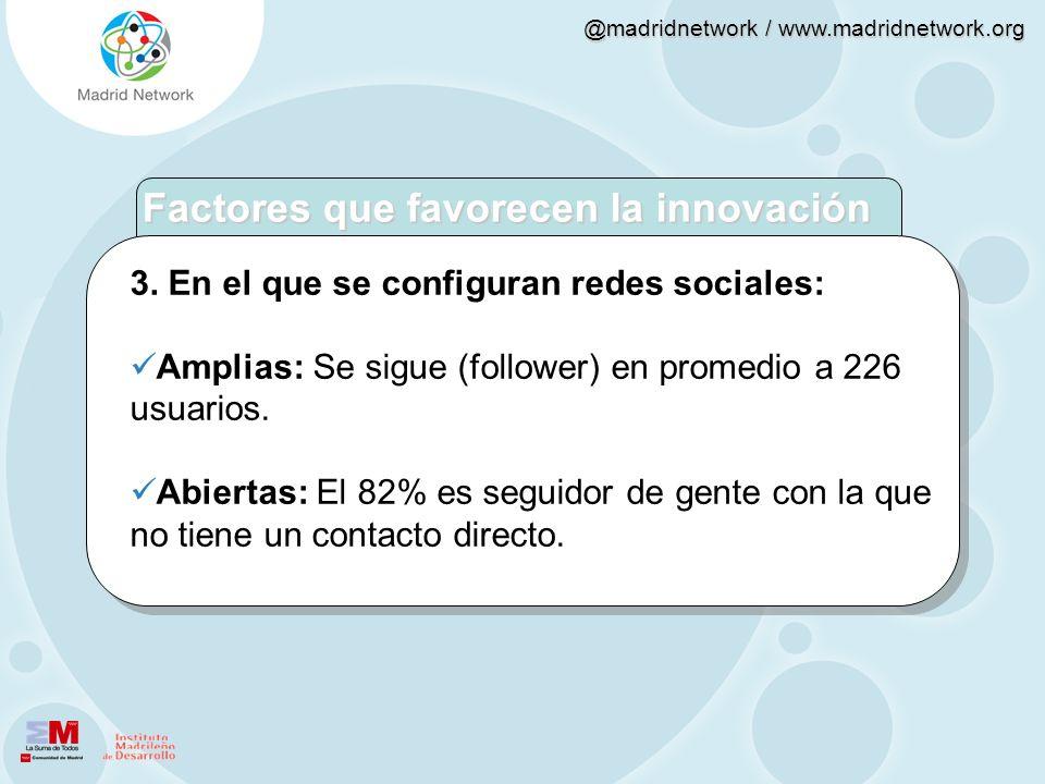 Factores que favorecen la innovación