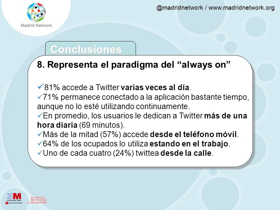 Conclusiones 8. Representa el paradigma del always on