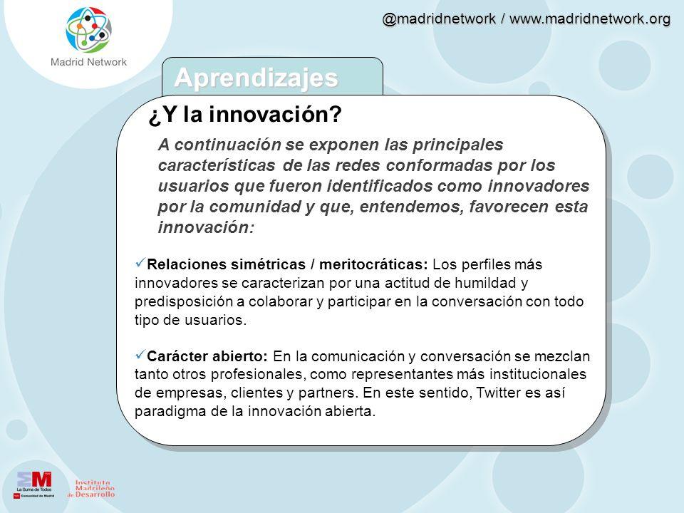 Aprendizajes ¿Y la innovación