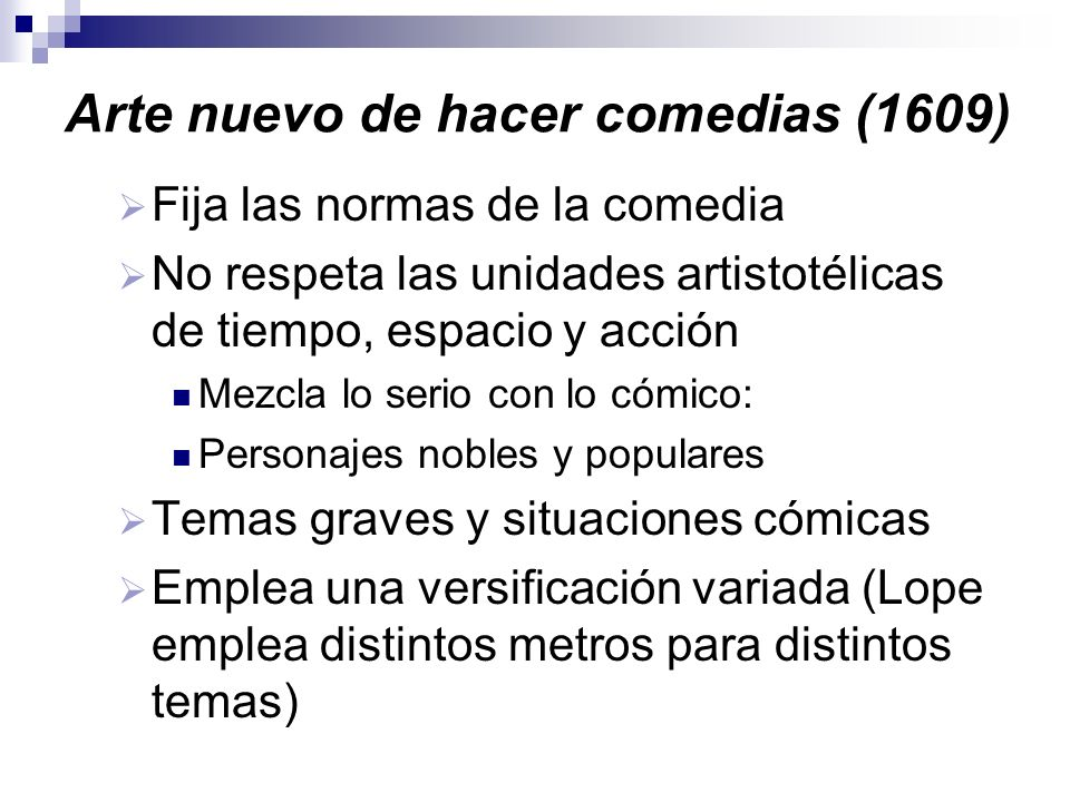 Arte nuevo de hacer comedias (1609)