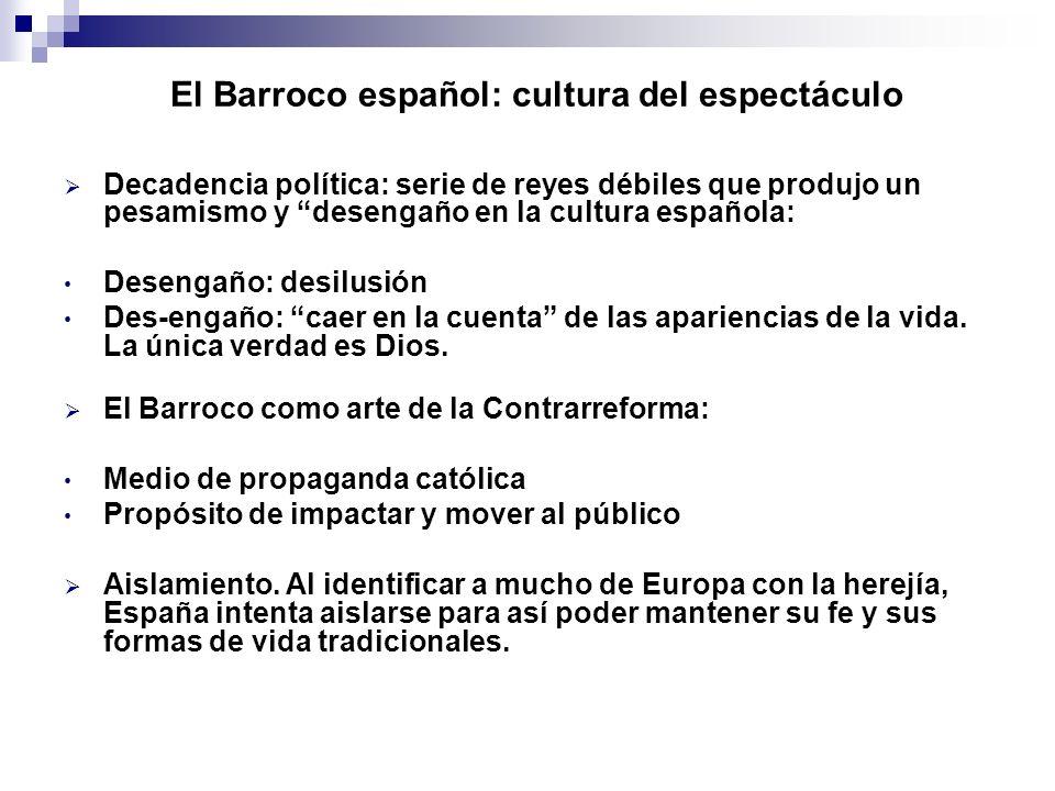 El Barroco español: cultura del espectáculo