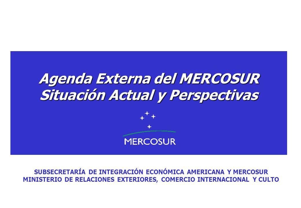 Agenda Externa del MERCOSUR Situación Actual y Perspectivas