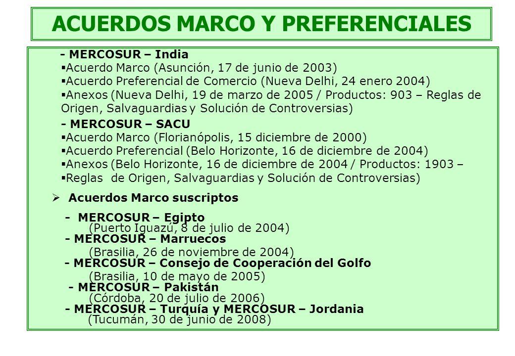 ACUERDOS MARCO Y PREFERENCIALES