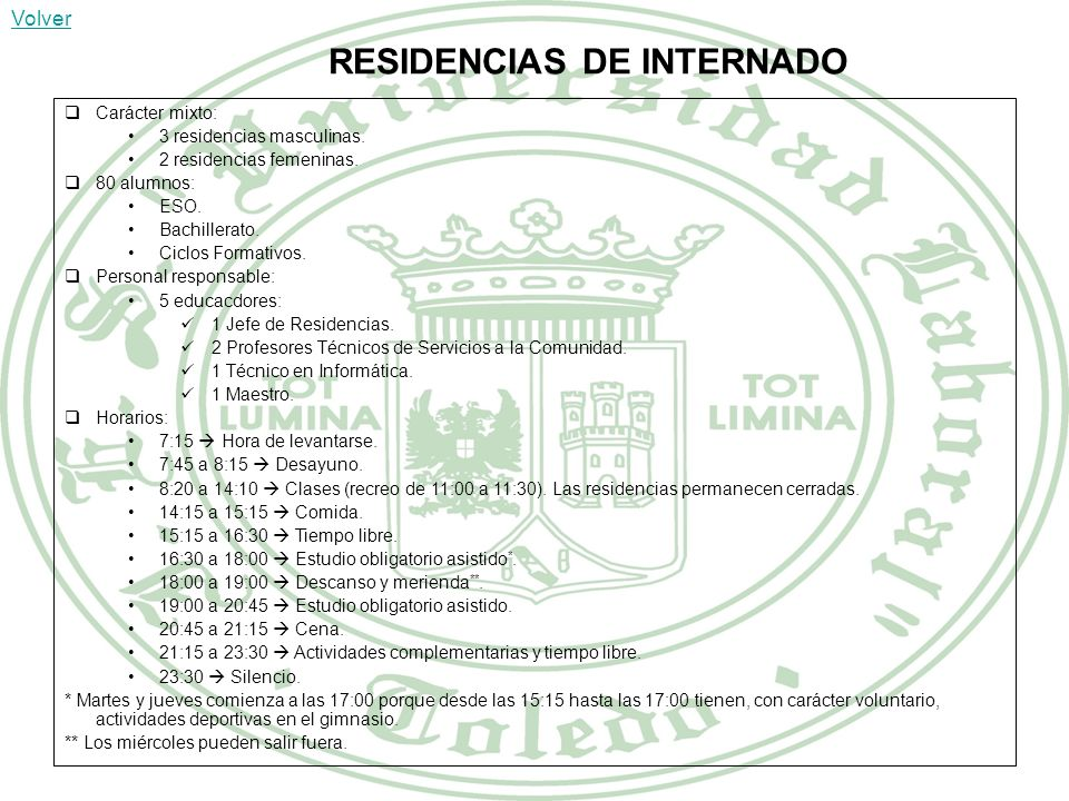RESIDENCIAS DE INTERNADO