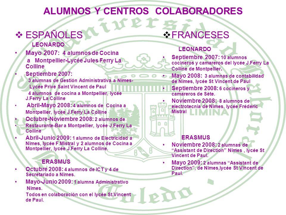 ALUMNOS Y CENTROS COLABORADORES