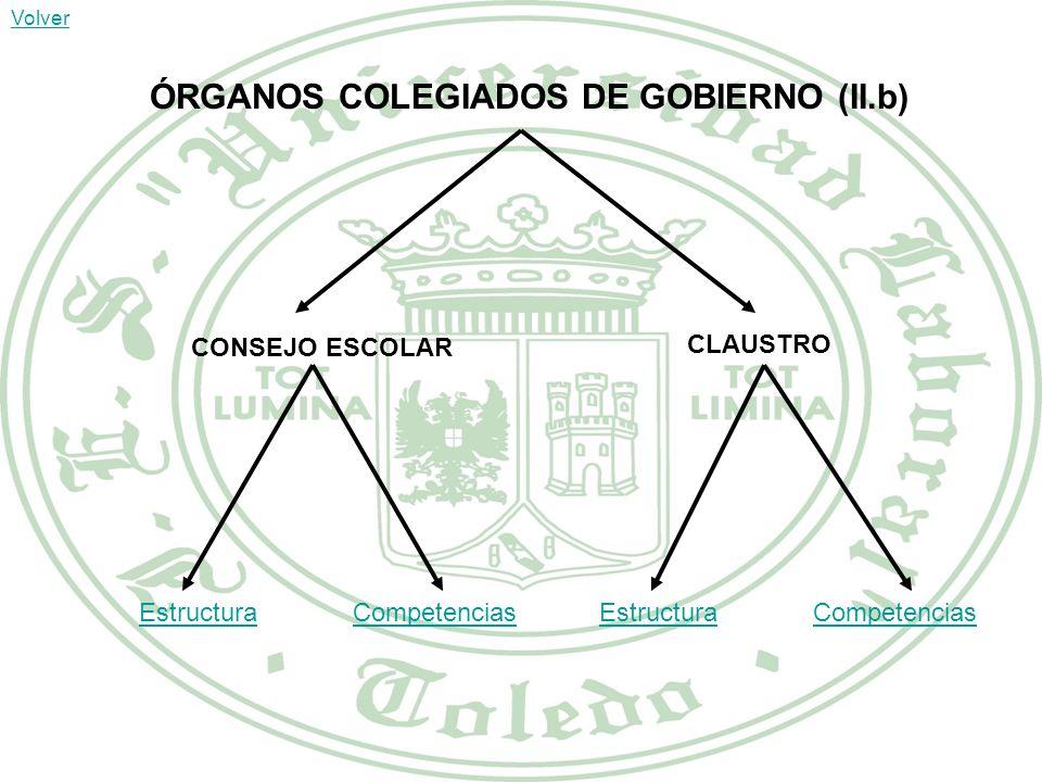 ÓRGANOS COLEGIADOS DE GOBIERNO (II.b)