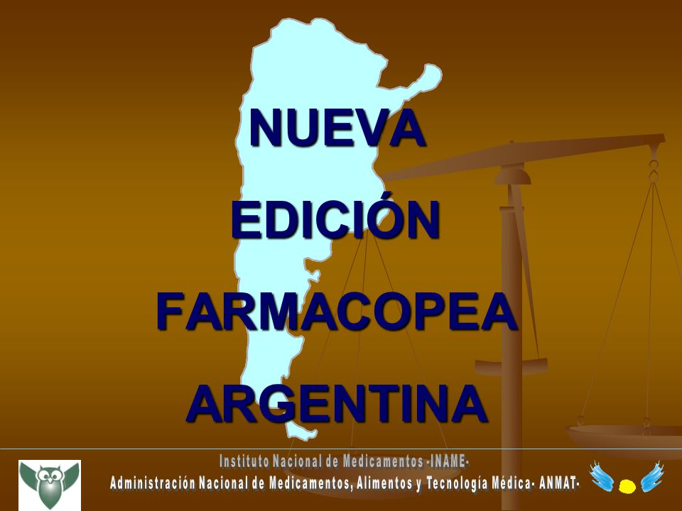 NUEVA EDICIÓN FARMACOPEA ARGENTINA