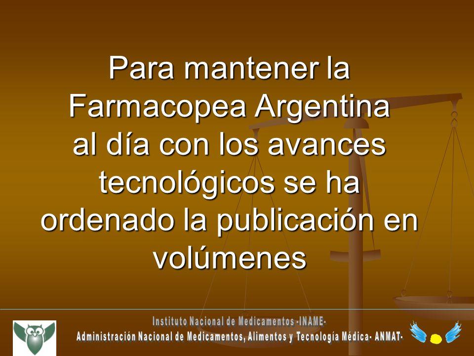 Instituto Nacional de Medicamentos -INAME-