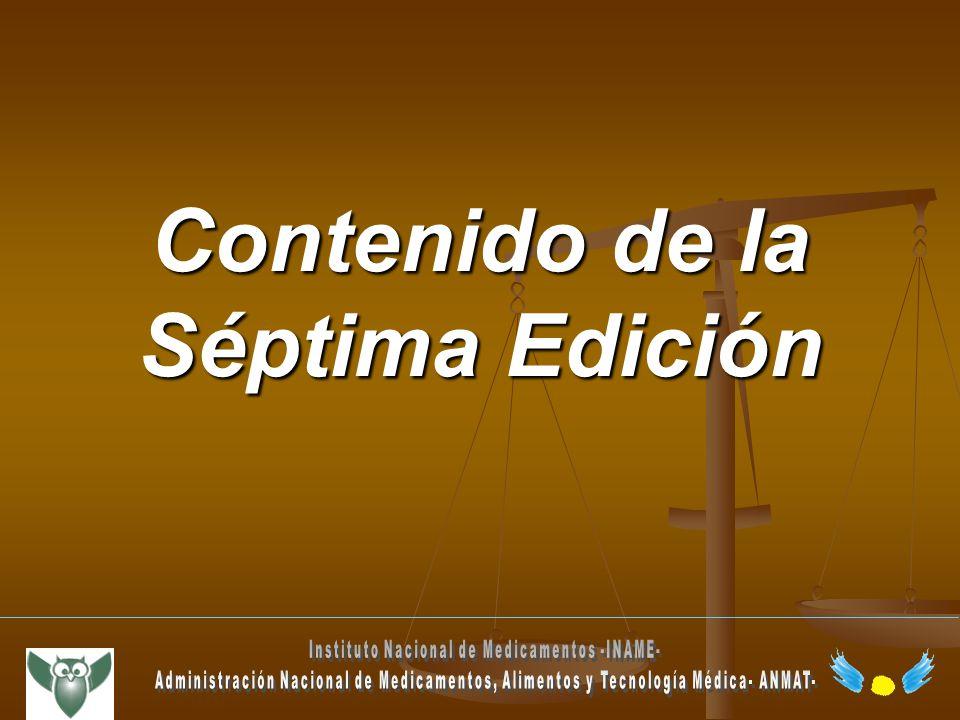 Contenido de la Séptima Edición
