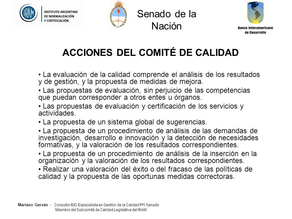 ACCIONES DEL COMITÉ DE CALIDAD