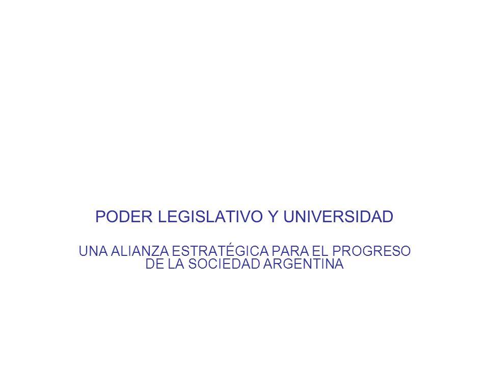 PODER LEGISLATIVO Y UNIVERSIDAD