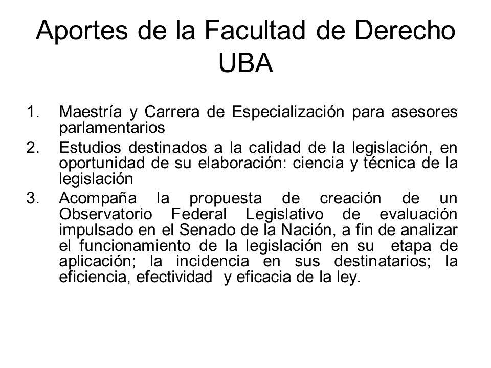 Aportes de la Facultad de Derecho UBA