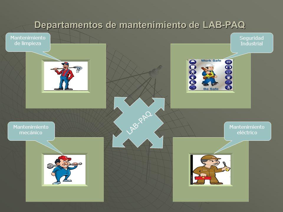 Departamentos de mantenimiento de LAB-PAQ