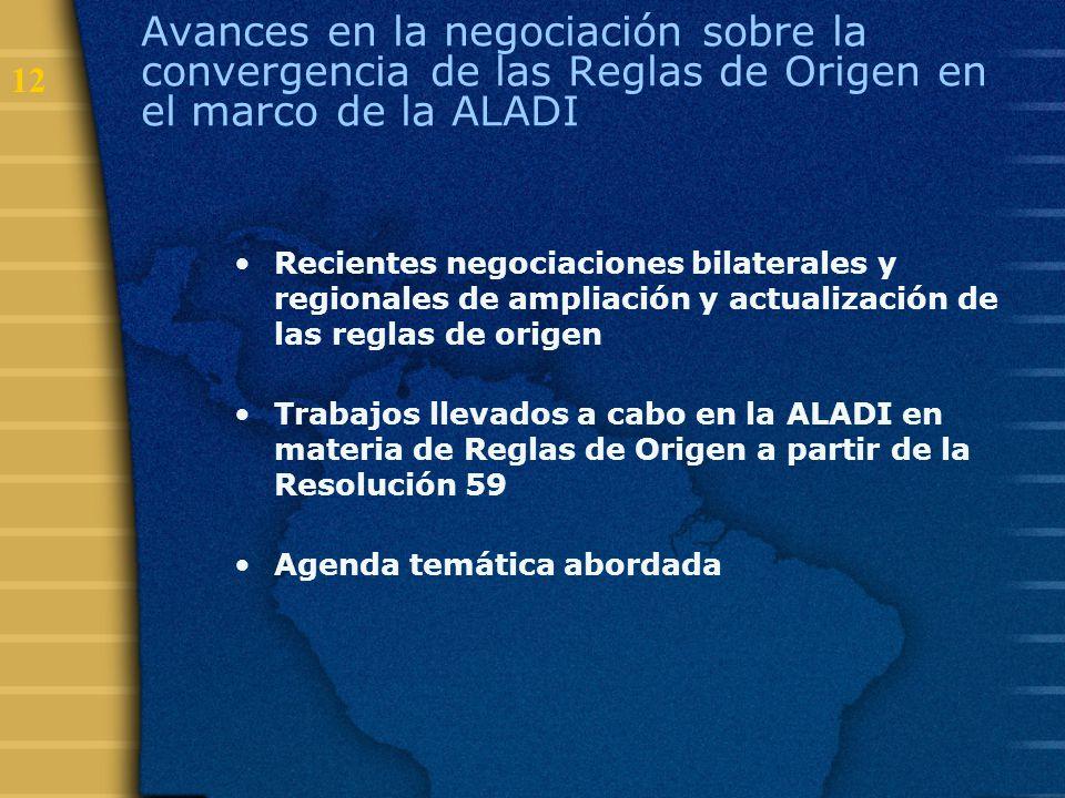 Avances en la negociación sobre la convergencia de las Reglas de Origen en el marco de la ALADI