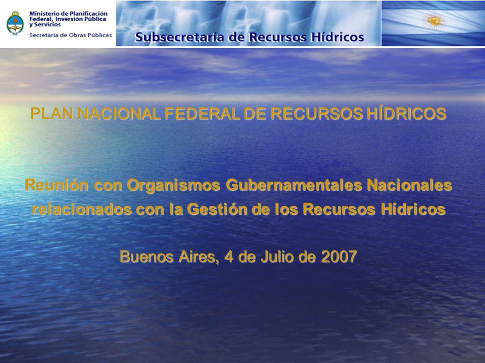 PLAN NACIONAL FEDERAL DE RECURSOS HÍDRICOS
