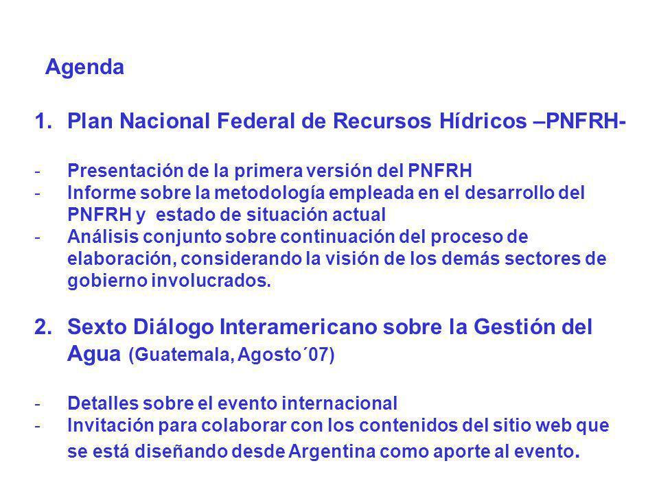 Plan Nacional Federal de Recursos Hídricos –PNFRH-